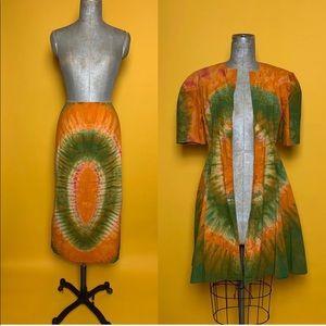 2 piece Tie Dye Skirt Set